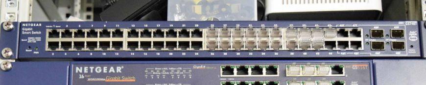 A NETGEAR GS748T 48-Port Gigabit Smart Switch