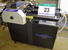 A GRAPHIC WIZARD CM Plus-TS Creaser and Perforator with BECKER Vacuum Pump, Serial No. 2009 137