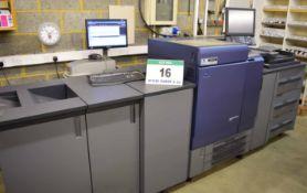 A KONICA MINOLTA C8000 Bizhub Digital Press, SRA3 Perfecting, 4-Colour, Six Paper Trays, Integral