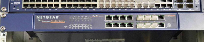 A NETGEAR GS516T 16-Port Gigabit Switch