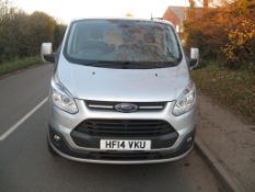 A 2014 FORD Transit Custom 2.2D 270 LTD E-Tech MWB Panel Van, Registration No. HF14 VKU, First