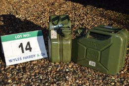 Two WAVIAN 10-Litre capacity Jerry Cans