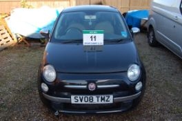 A 2008 (08) FIAT 500 Lounge 1.4 16V 100PS 3-Door Saloon, Date of Registration: 30/3/2008,