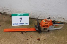A STIHL HS45 Petrol Driven (2T) Hand Held Hedge Trimmer