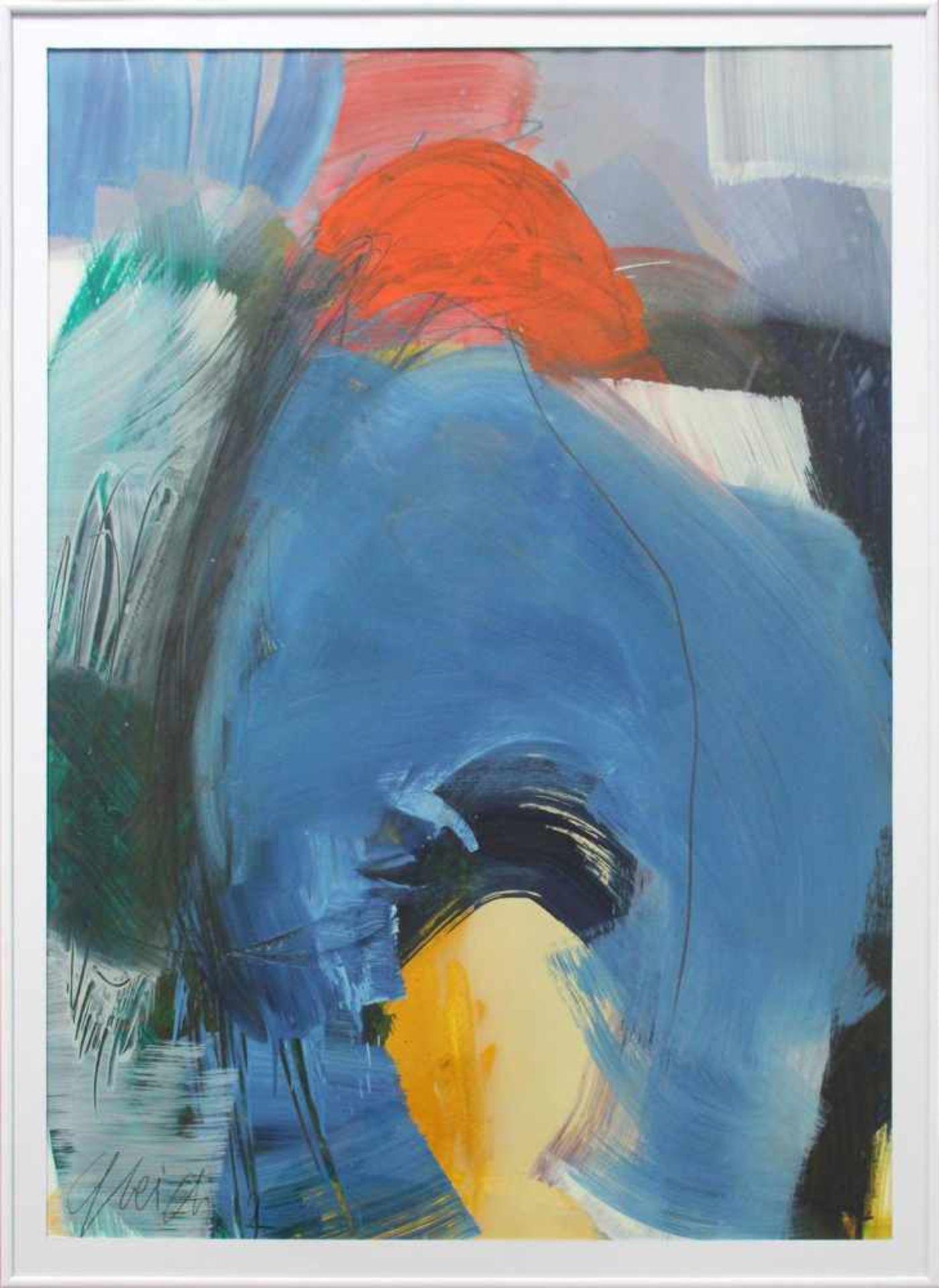 Joanna Gleich geb. 1959 o.T. 2012 Öl auf Papier handsigniert und datiert 95 x 65 cm - Bild 2 aus 3