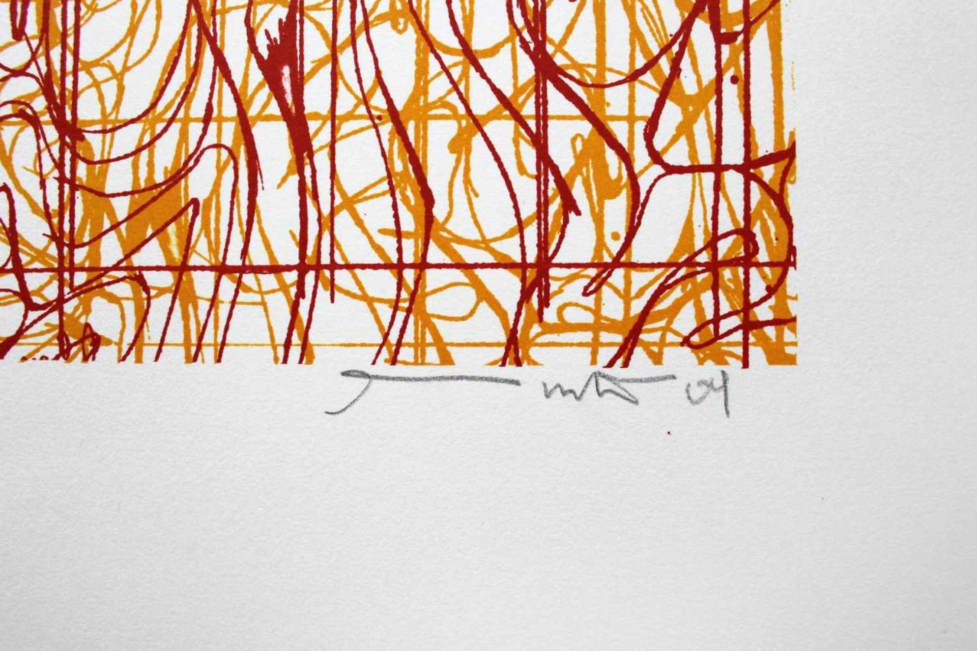 Hermann Nitsch geb. 1938 o.T. 2009 Farblithographie handsigniert und nummeriert 17/60 45 x 30 cm - Bild 2 aus 3