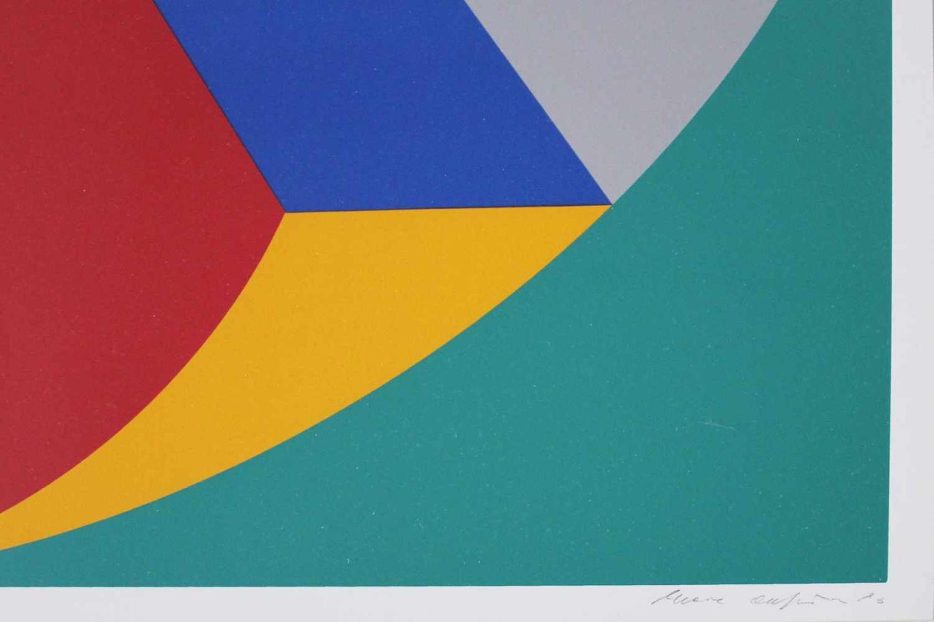 Marc Adrian 1930-2008 Poems Inventionistes II 1973 Farbserigraphie handsigniert und nummeriert 72/ - Bild 3 aus 4