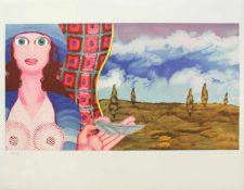 Robert Zeppel-Sperl 1944 - 2005 o.T. Lithographie handsigniert und nummeriert 68/2500 50 x 65 cm