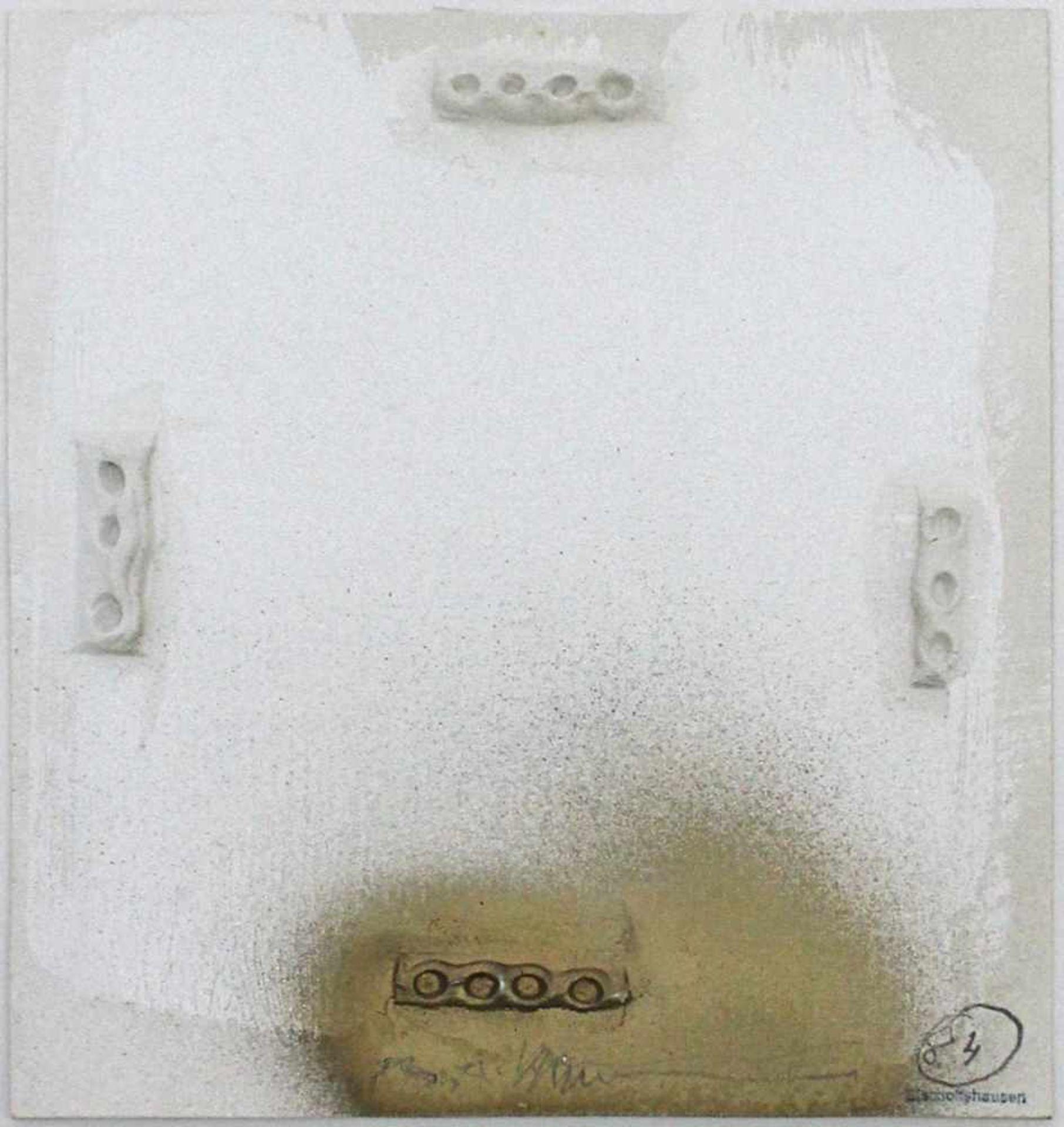 Hans Bischoffshausen 1927 - 1987 o.T. 1984 Mischtechnik auf Karton handsigniert und datiert 17 x