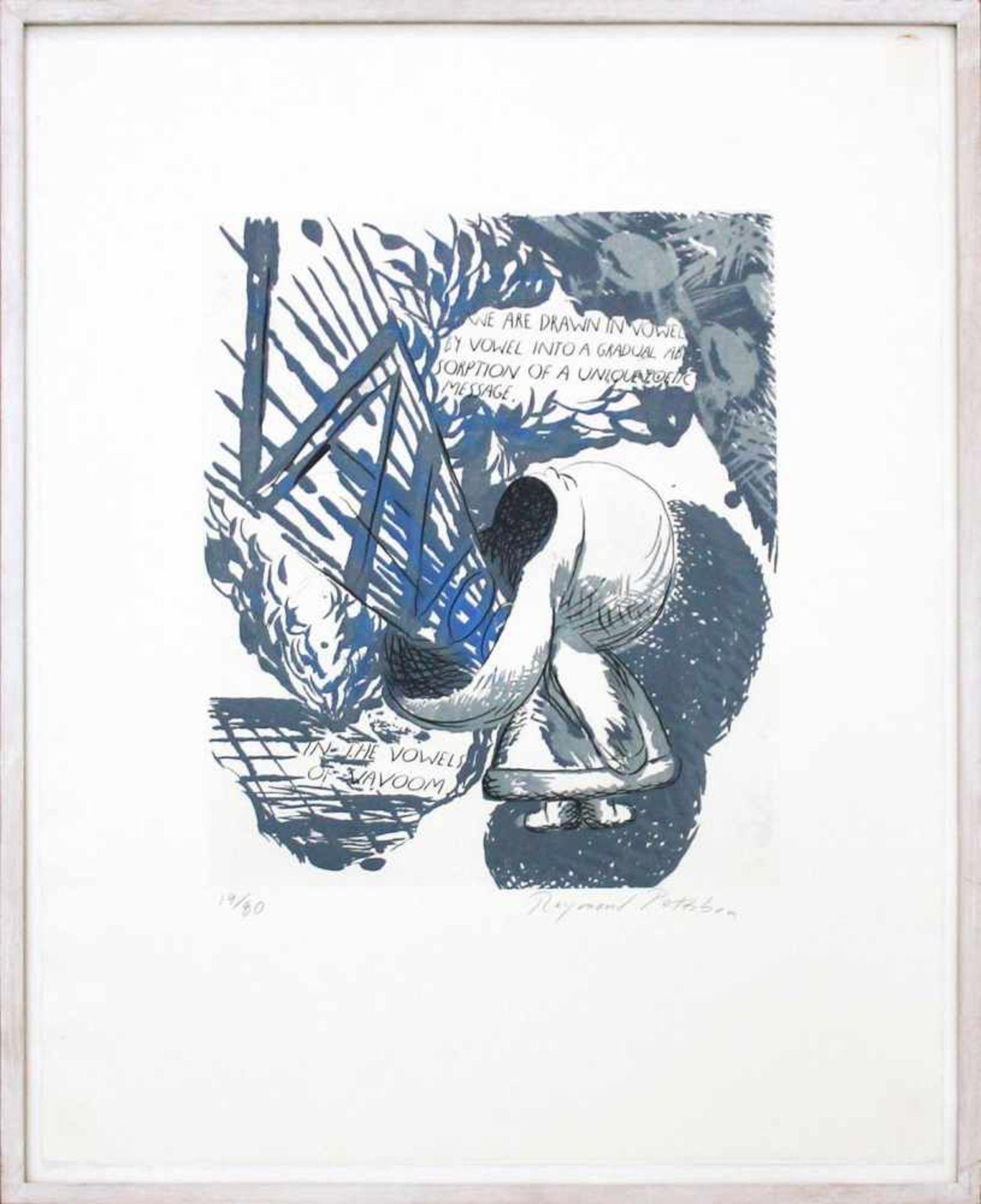 Raymond Pettibon geb. 1957 We are drawn in the vowel … 1992 Radierung, Zuckertusch und Aquatinta auf - Bild 2 aus 3