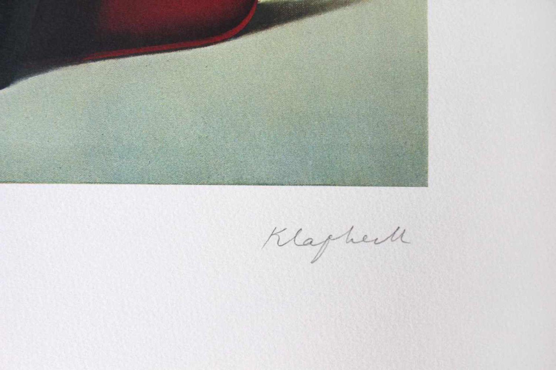 Konrad Klapheck geb. 1935 Bügeleisen / Dragon du foyer 1980 Farblithographie handsigniert und - Bild 3 aus 4