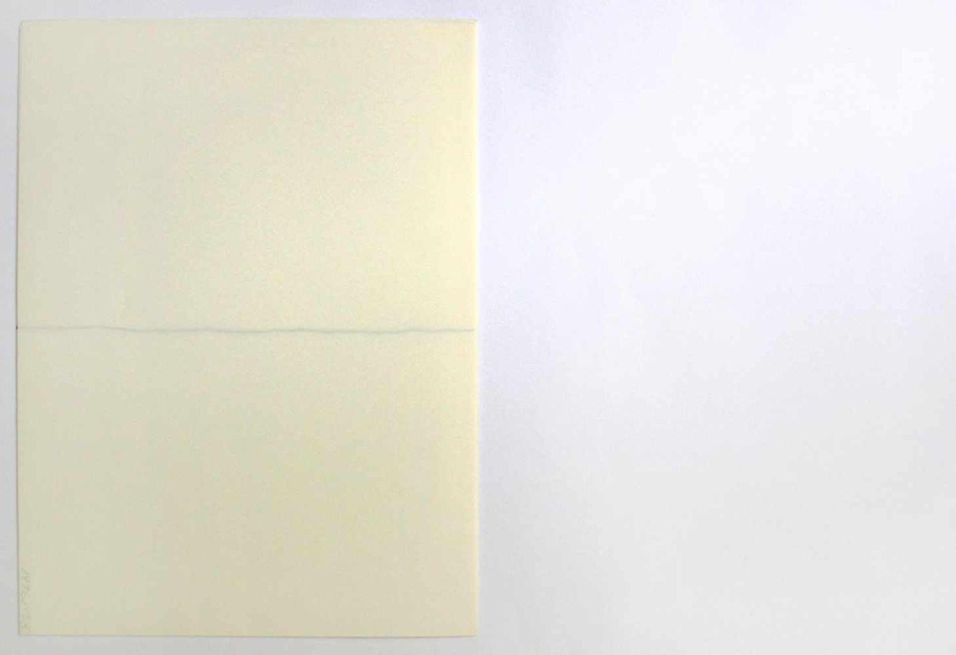 """Robert Witman geb. 1935 o.T. 1973 Lithographie auf Papier, beidseitig bedruckt aus dem Portfolio """" - Bild 5 aus 6"""