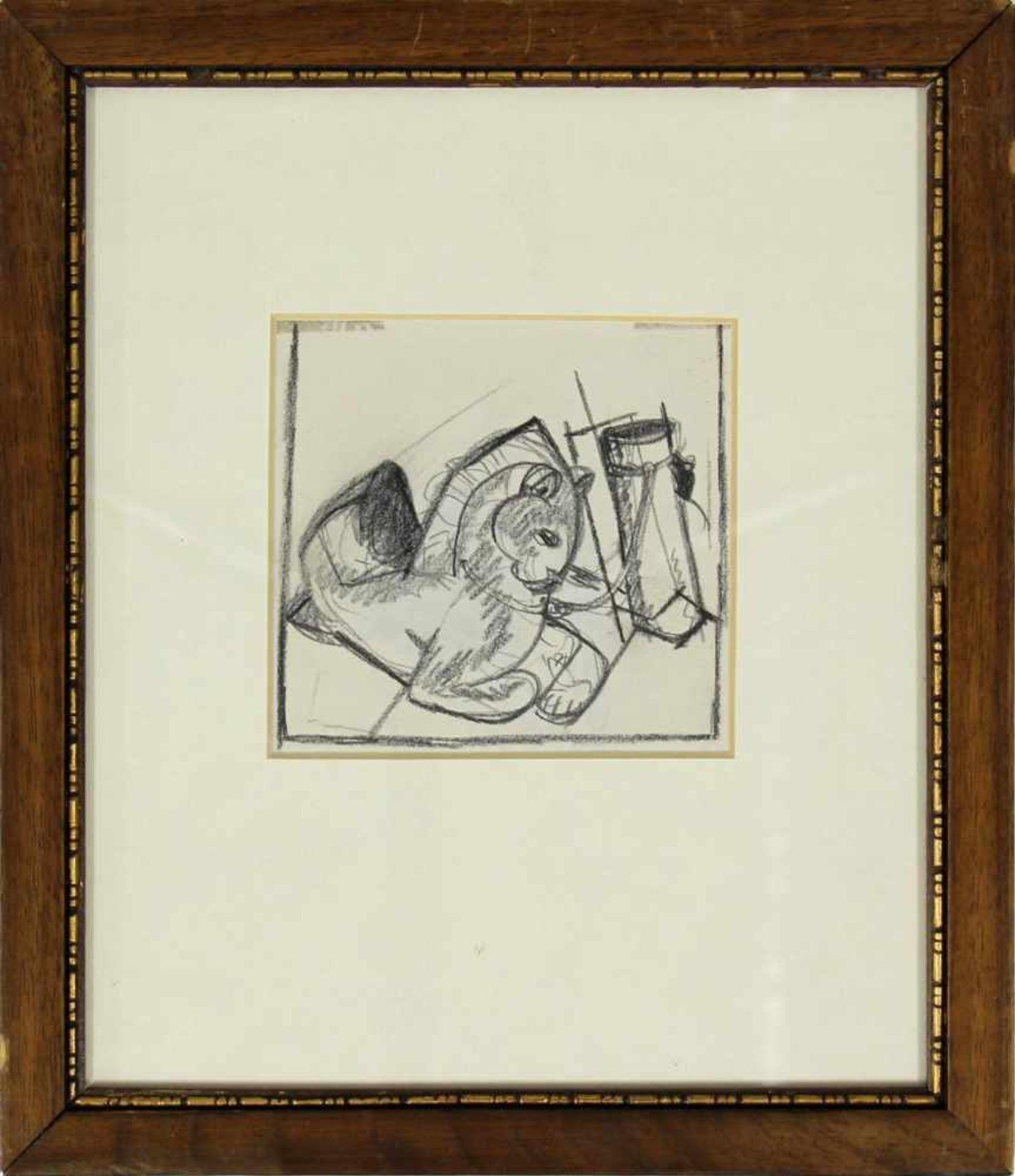 Ludwig Heinrich Jungnickel 1881-1965 Katz & Maus Graphit 16 x 12,5 - Bild 2 aus 3