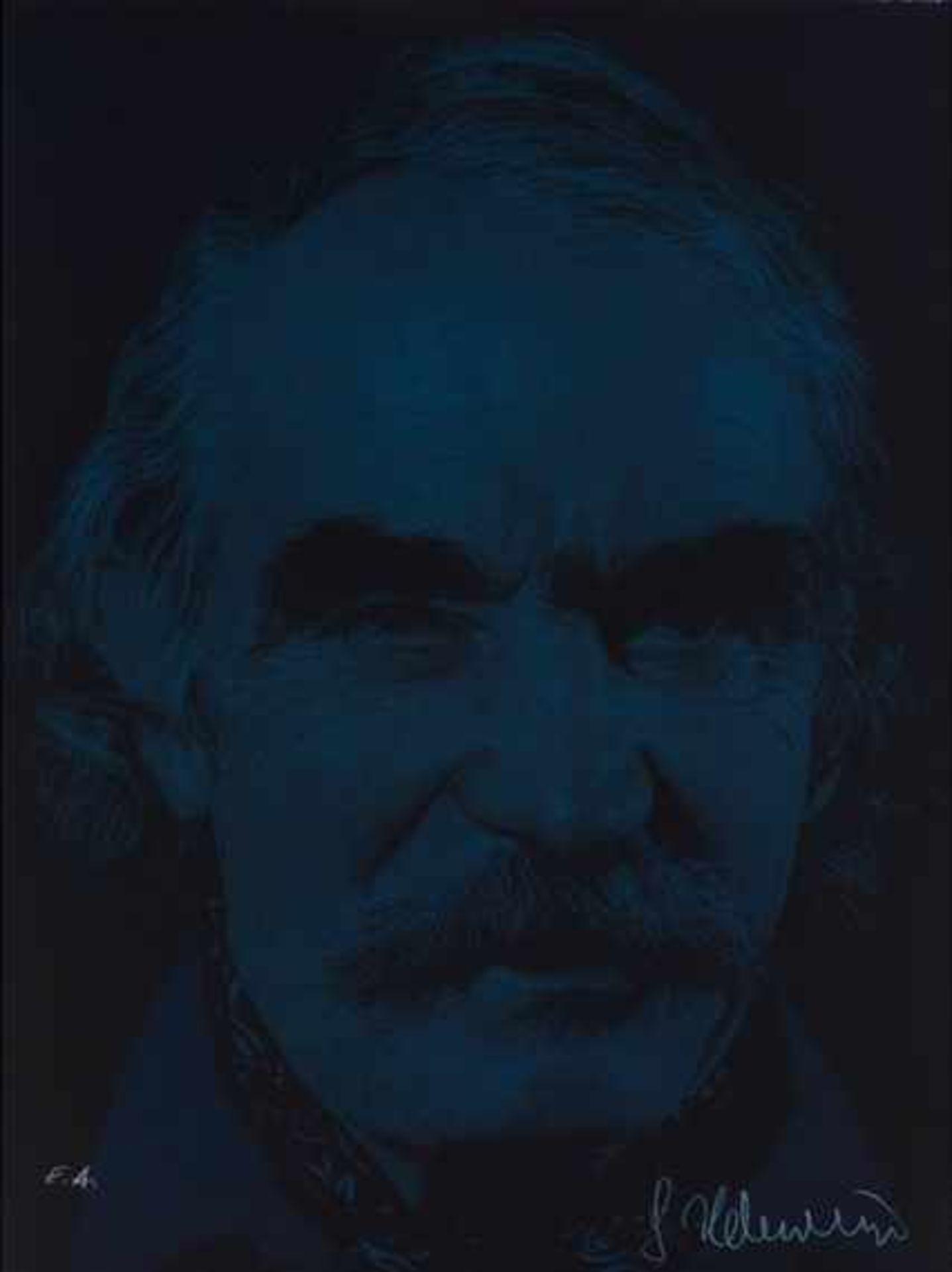 Gottfried Helnwein geb. 1948 Jean Tinguely dunkel Farblithographie handsigniert, nummeriert E.A.