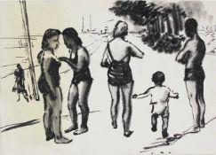 Viktor Pipal 1887-1971 o.T. Tusche Nachlassstempel verso, leichte Verfärbung auf der linken Hälfte