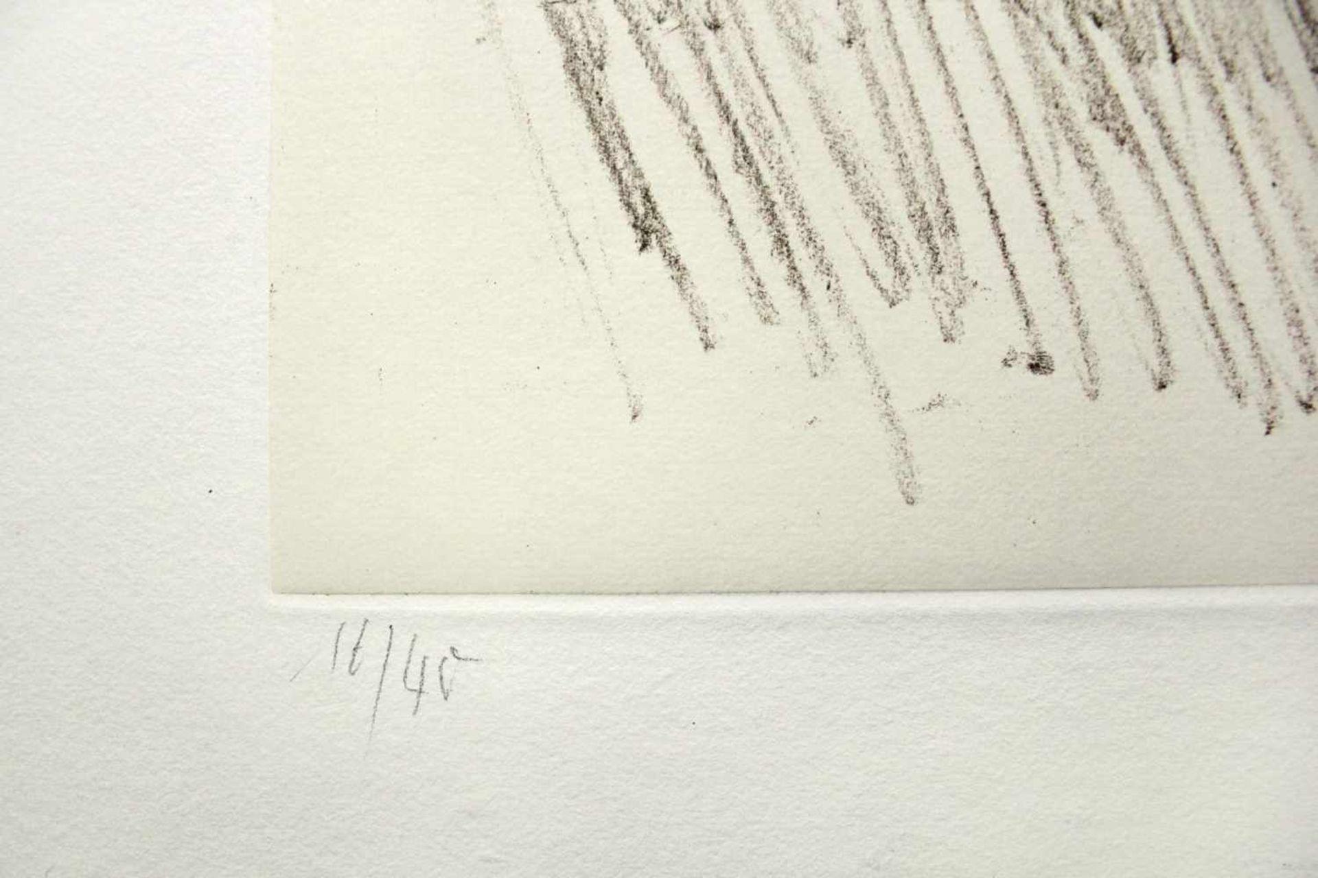 Raimund Girke 1930-2002 o.T. 1991 Radierung auf Rives-Bütten - collagiert handsigniert, datiert - Bild 3 aus 3