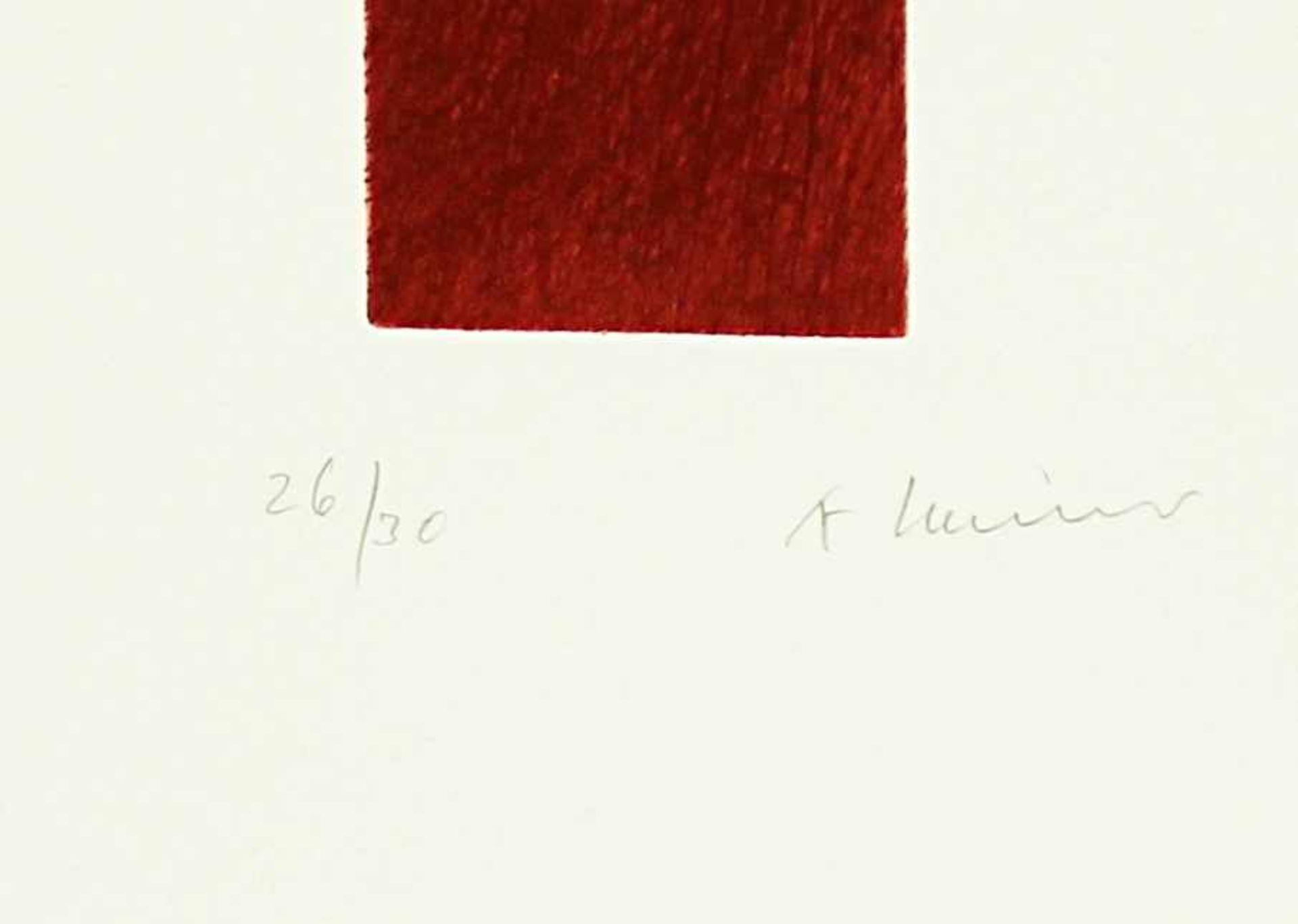 Arnulf Rainer geb. 1929 Kreuz Rot Dunkel 2009 Kaltnadelradierung handsigniert und nummeriert 26/30 - Bild 2 aus 2