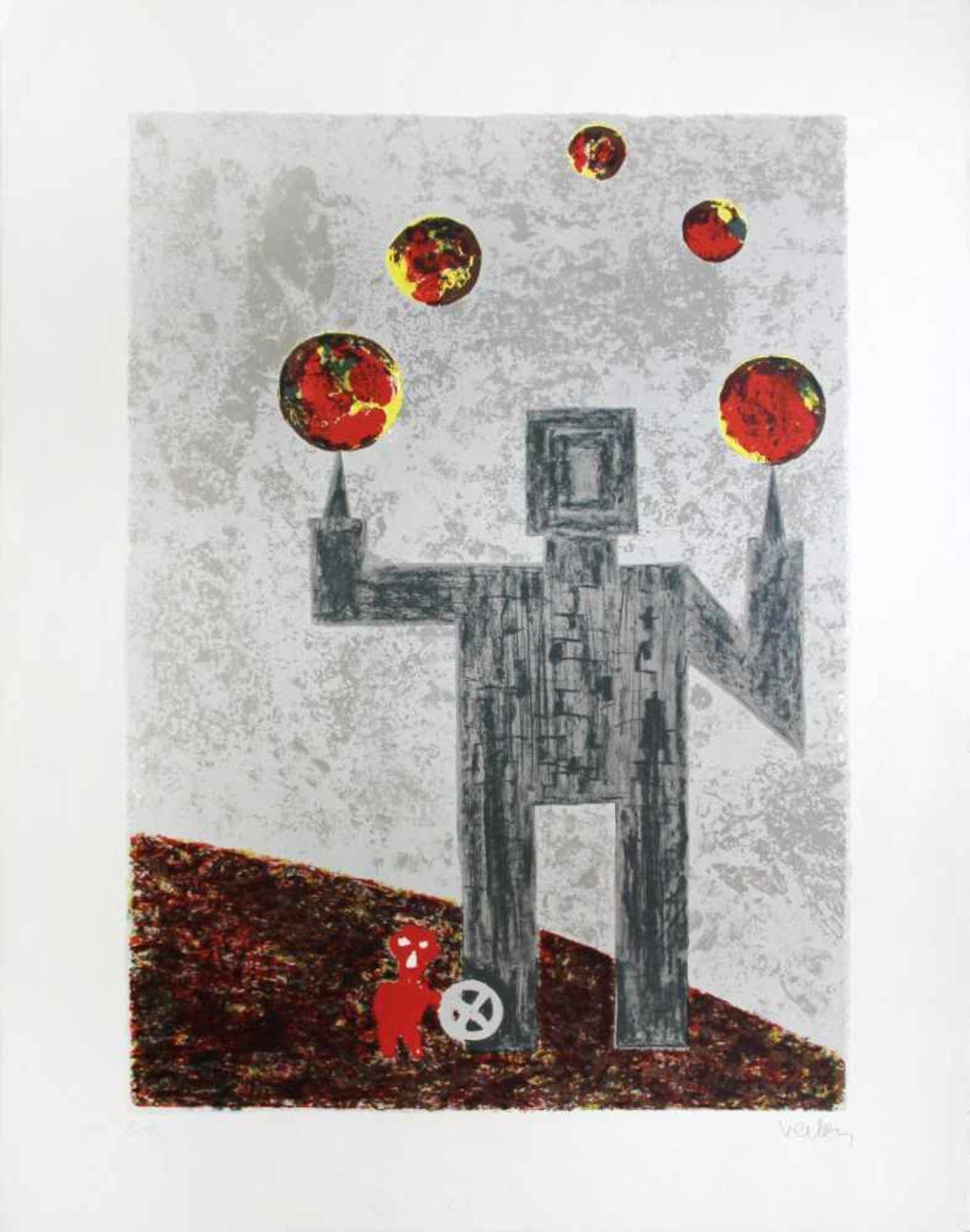 André Verlon 1917-1994 o.T. Farblithographie handsigniert und nummeriert E.A. 78 x 60 cm