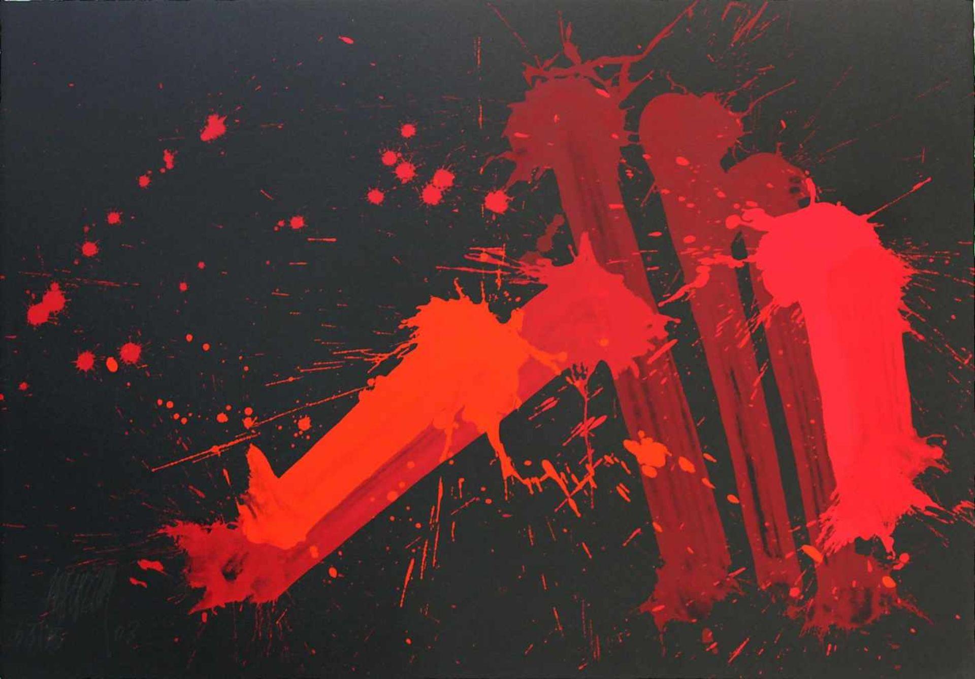 Markus Prachensky 1932-2011 Cinque Terre 2003 Farbserigraphie auf schwarzen Bütten handsigniert,