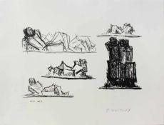 Fritz Wotruba 1907 - 1975 Studien 1973 Lithographie stempelsigniert, nummeriert auf Label verso