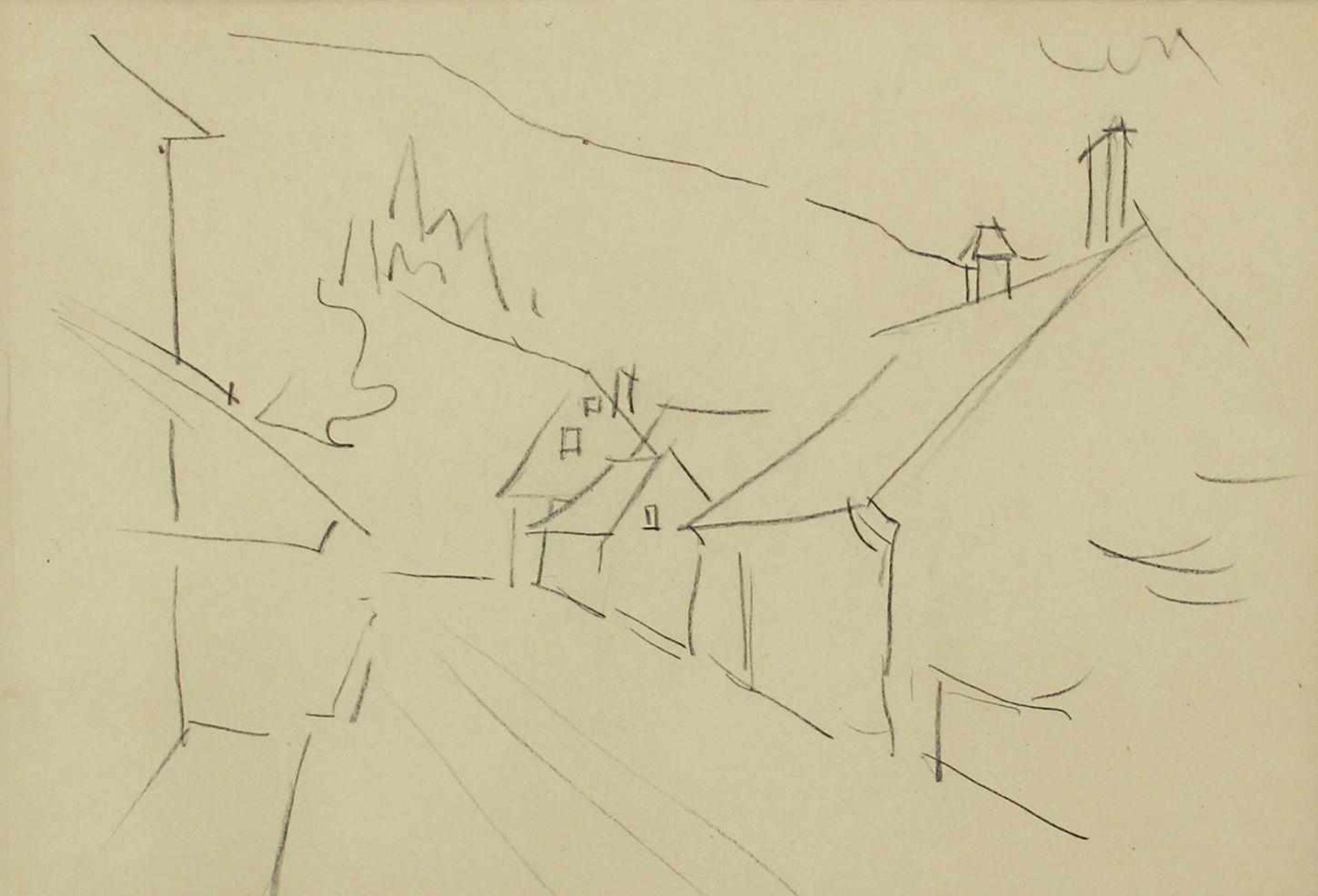Robert Philippi 1877 - 1959 Landschaft 7 Graphit signiert und betitelt verso 20 x 30 cm