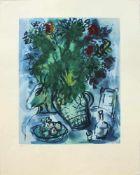 Marc Chagall 1887 - 1985 Blumenvase Lithographie nummeriert 8/500 50 x 40 cm