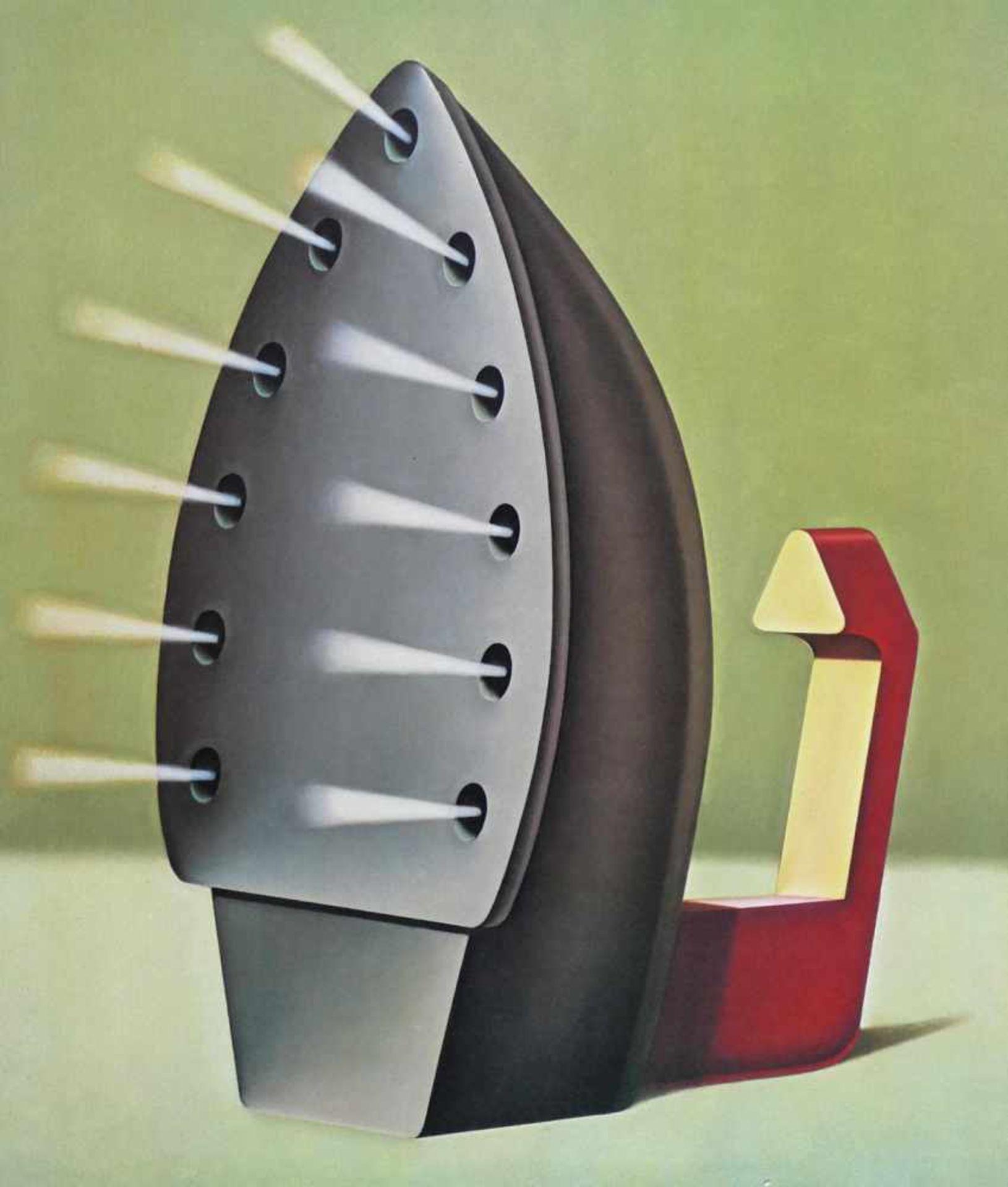Konrad Klapheck geb. 1935 Bügeleisen / Dragon du foyer 1980 Farblithographie handsigniert und - Bild 2 aus 4