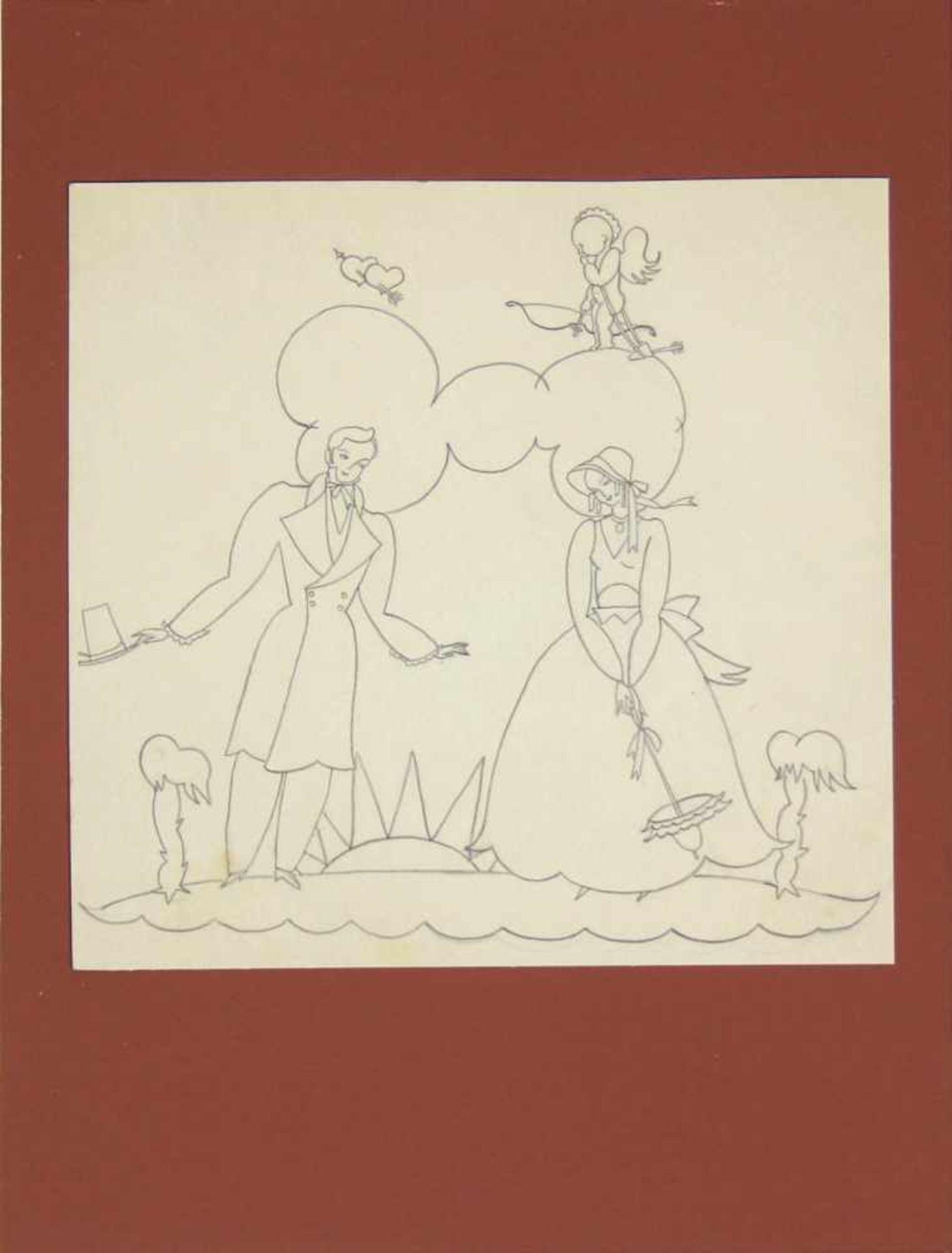 Grete Jelinek-Wiglitzki Konvolut aus 3 Zeichnungen der Künstlerin um 1930 Graphit 3 Zeichnungen 15 x