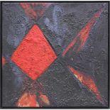 Jakob Gasteiger geb. 1953 o.T. 1985 Acryl auf Leinwand monogrammiert und datiert verso 80 x 80 cm