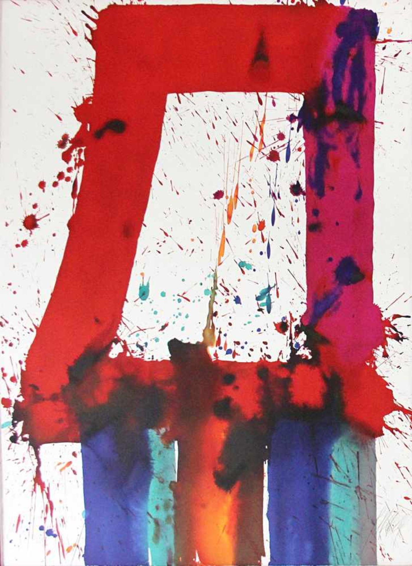 Markus Prachensky 1932-2011 Etruria Blues 2012 Farblithographie stempelsigniert und nummeriert 76,