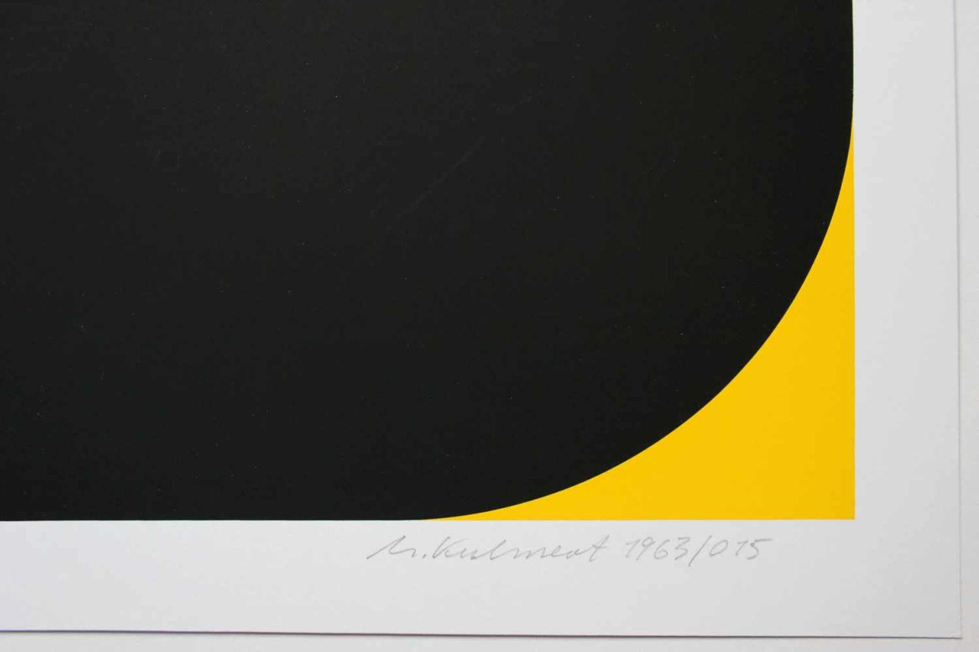 Horst Kuhnert geb. 1939 o.T. 1963/015 Farbserigraphie handsigniert, datiert und nummeriert 27/100 50 - Bild 2 aus 3