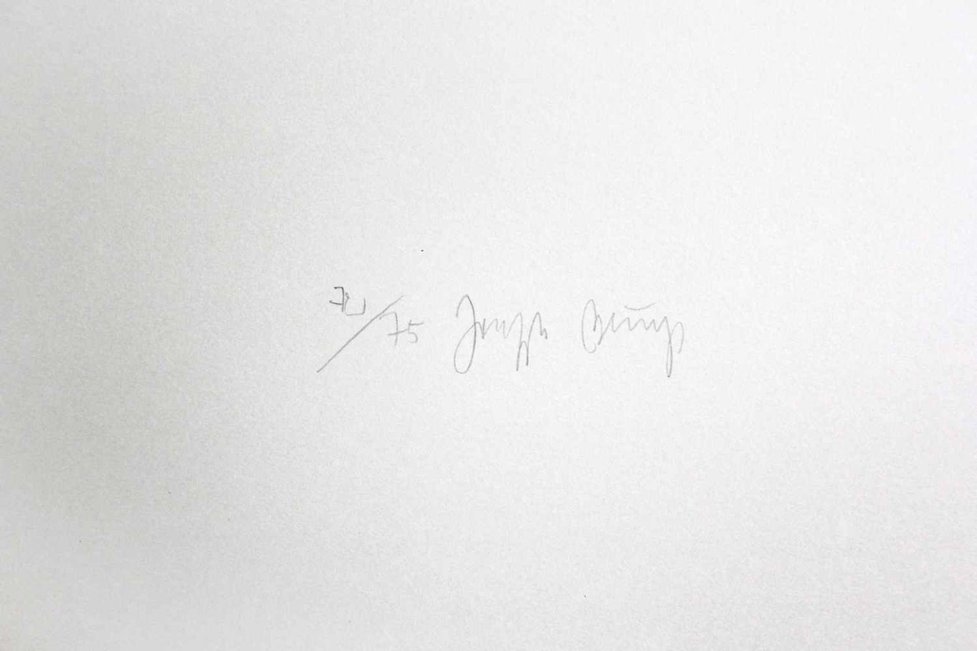 Joseph Beuys 1921 - 1986 Kreuz des Saturn 1953/1982 Kaltnadelradierung auf Rives Gris aus der - Bild 2 aus 2