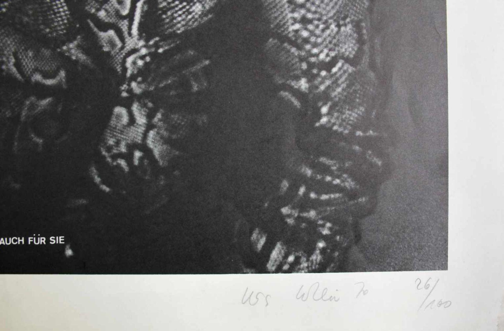 Urs Lüthi geb. 1947 Lüthi weint auch für Sie 1974 Offsetlithographie handsigniert, datiert und - Bild 2 aus 2