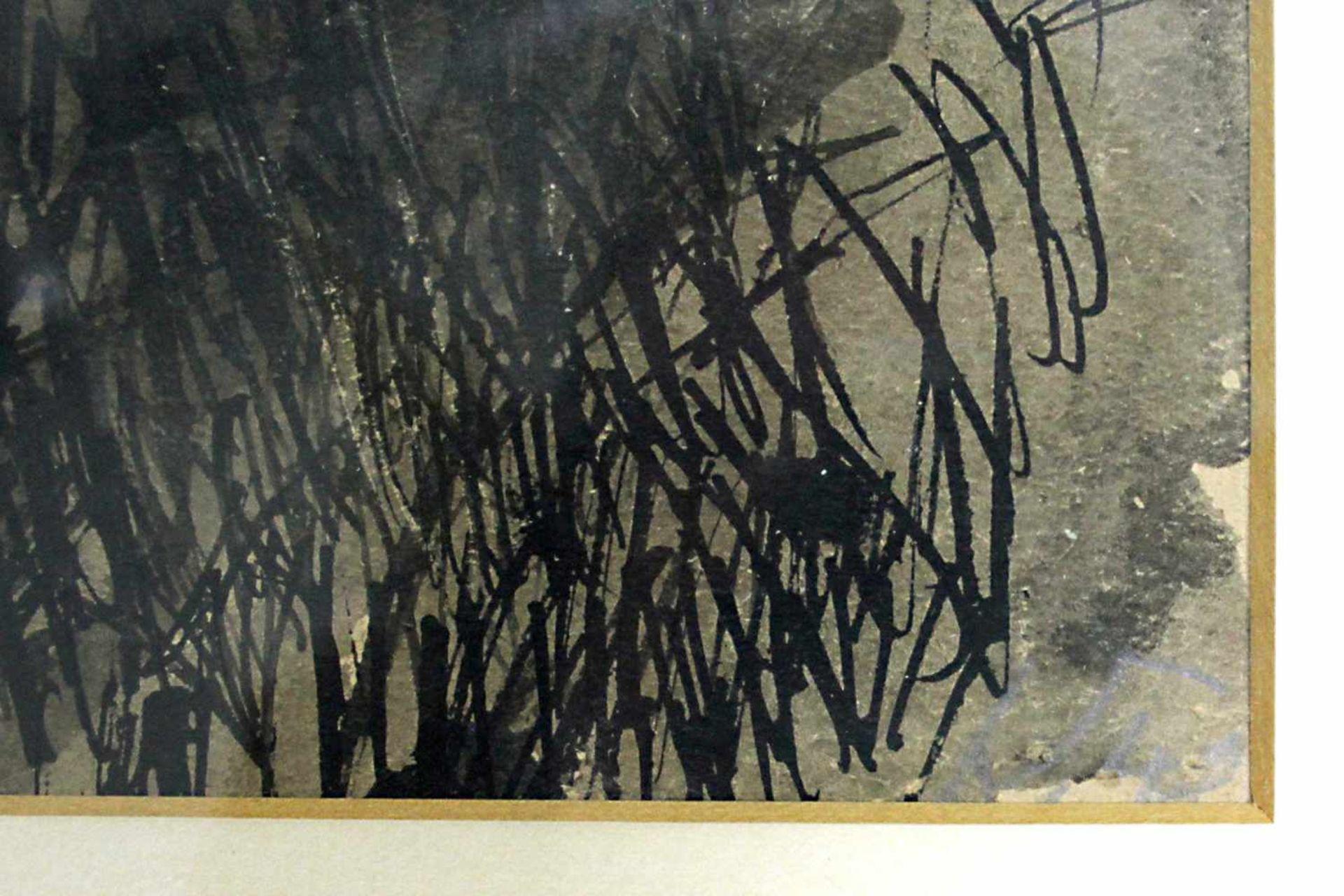 Karl Kreutzberger 1816 - 1990 Wien Felder um 1948 Tusche unleserlich signiert und betitelt 46 x 62 - Bild 2 aus 3