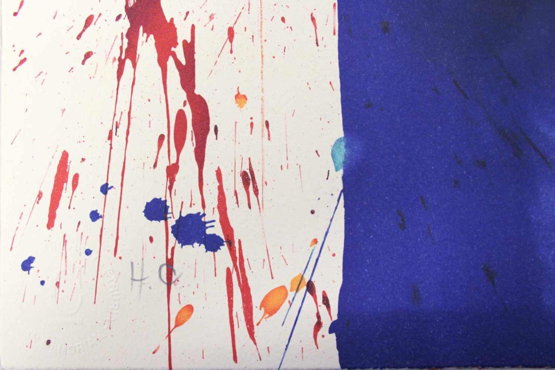Markus Prachensky 1932-2011 Etruria Blues 2012 Farblithographie stempelsigniert und nummeriert 76, - Bild 3 aus 4