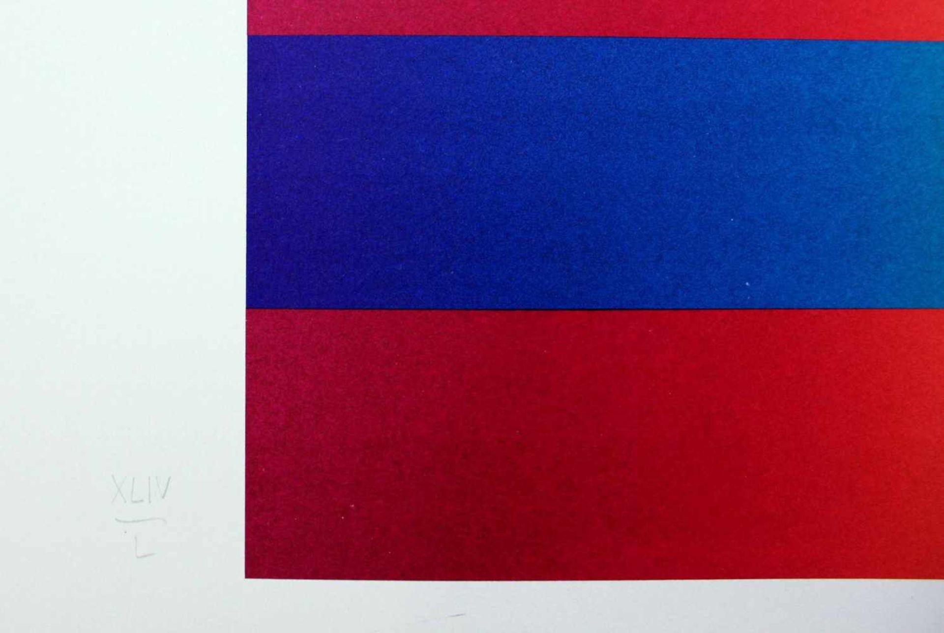Getulio Alviani geb. 1937 o.T. Farbserigrafie handsigniert und nummeriert XLV/L (45/50) 71 x 100 cm - Bild 4 aus 4
