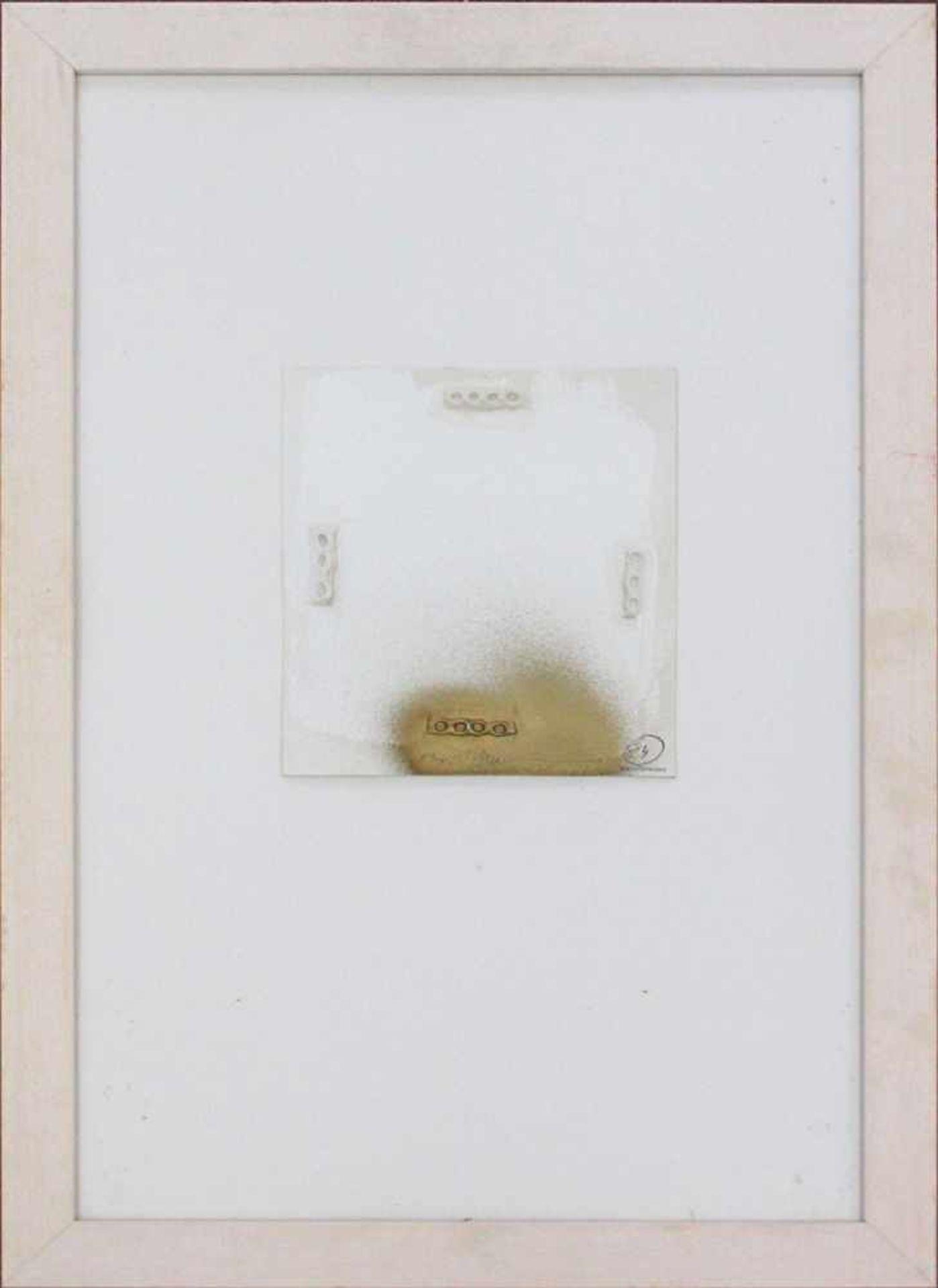 Hans Bischoffshausen 1927 - 1987 o.T. 1984 Mischtechnik auf Karton handsigniert und datiert 17 x - Bild 2 aus 2