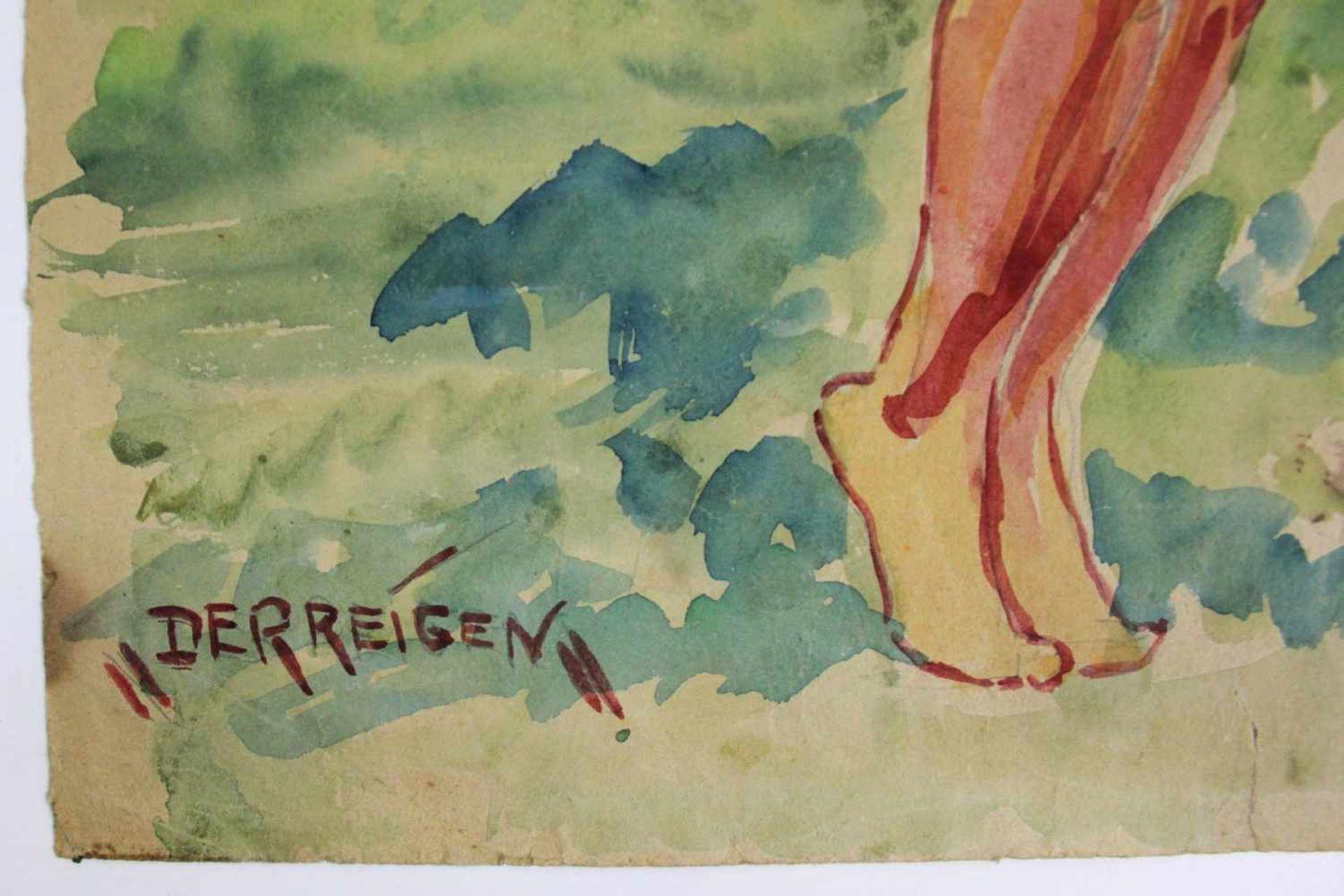 Karl Ottmar Kratochwill geb. 1910 Der Reigen 1932 Öl auf Papier handsigniert, datiert und betitelt - Bild 4 aus 5