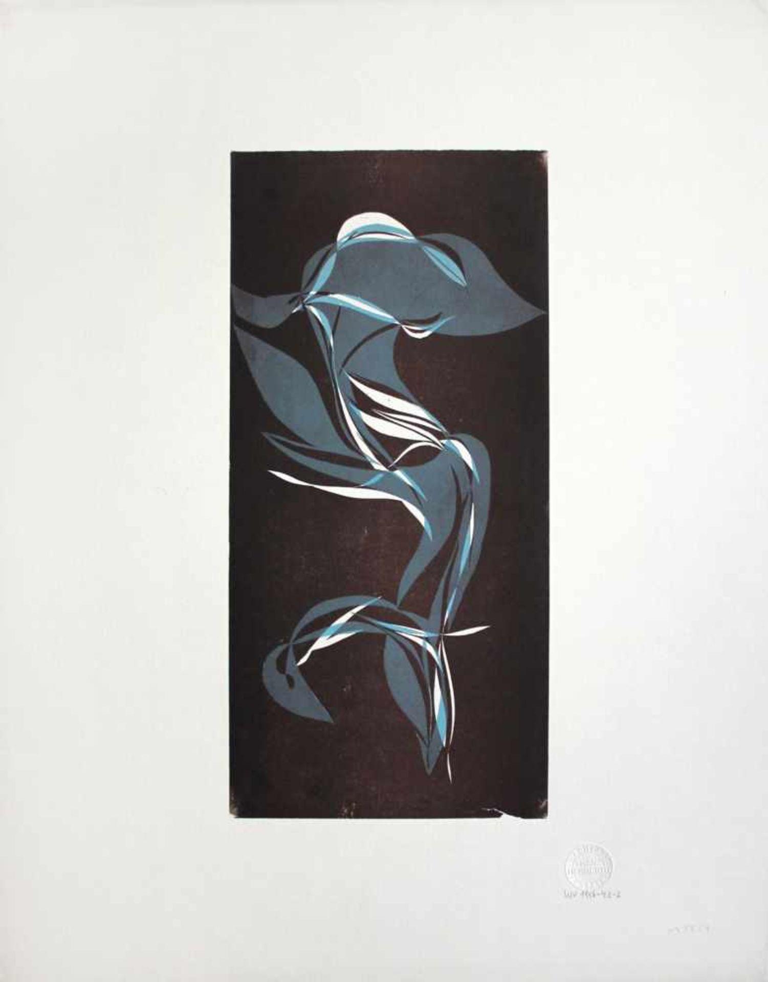 Franz Herbert geb. 1953 o.T. Linolschnitt Nachlass-Prägestempel 57 x 44 cm