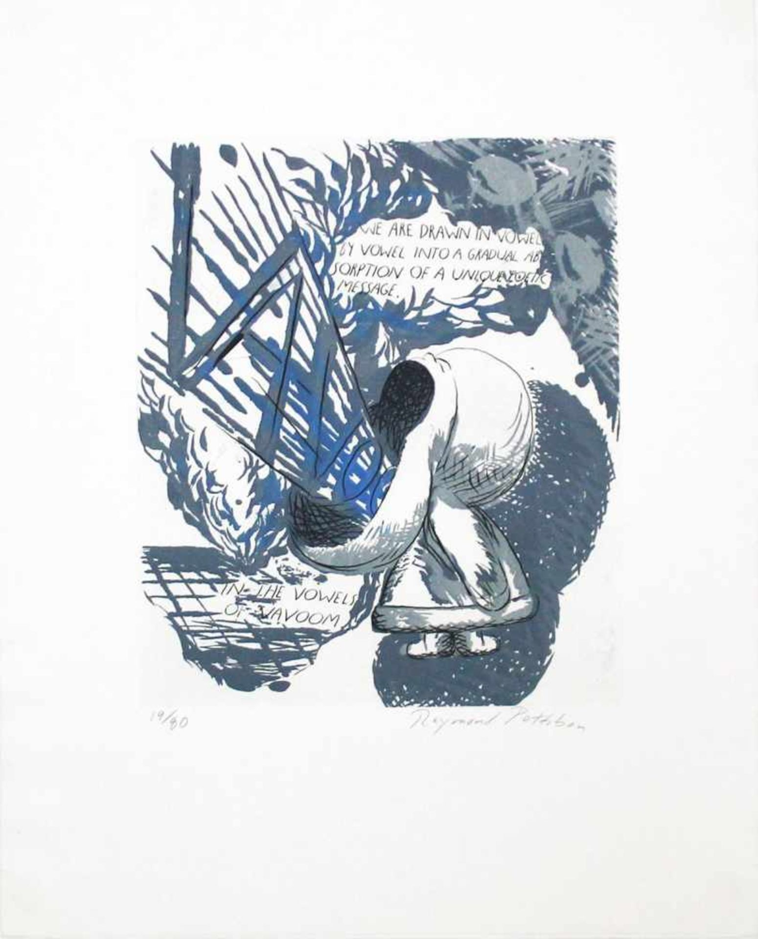 Raymond Pettibon geb. 1957 We are drawn in the vowel … 1992 Radierung, Zuckertusch und Aquatinta auf
