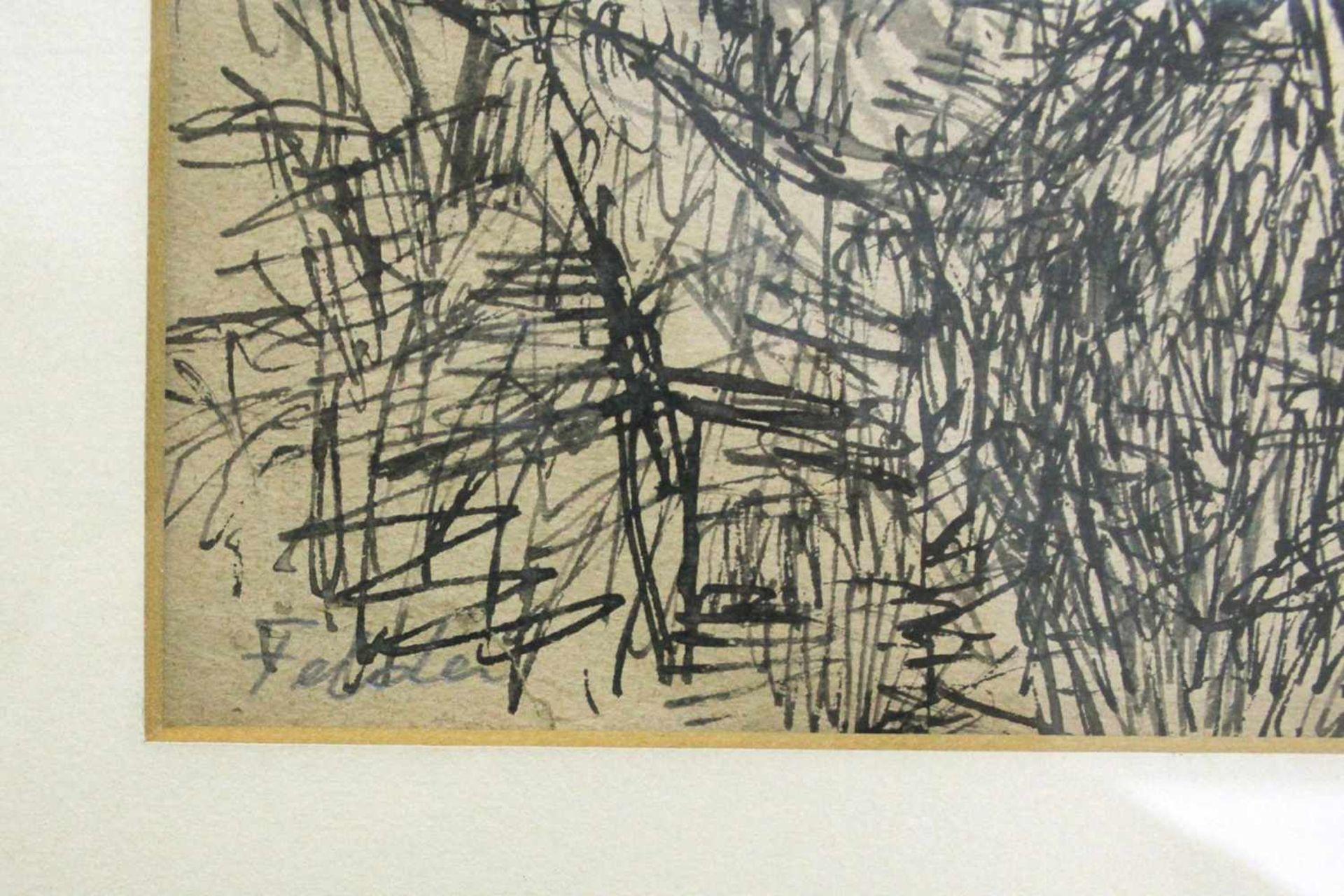Karl Kreutzberger 1816 - 1990 Wien Felder um 1948 Tusche unleserlich signiert und betitelt 46 x 62 - Bild 3 aus 3