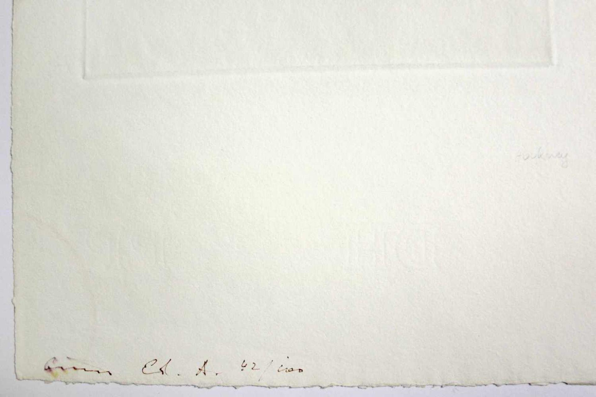 David Hockney geb. 1937 A Room Full Of Straw (from the Story Rumpelstilzchen) 1969 Aquatinta- - Bild 3 aus 3