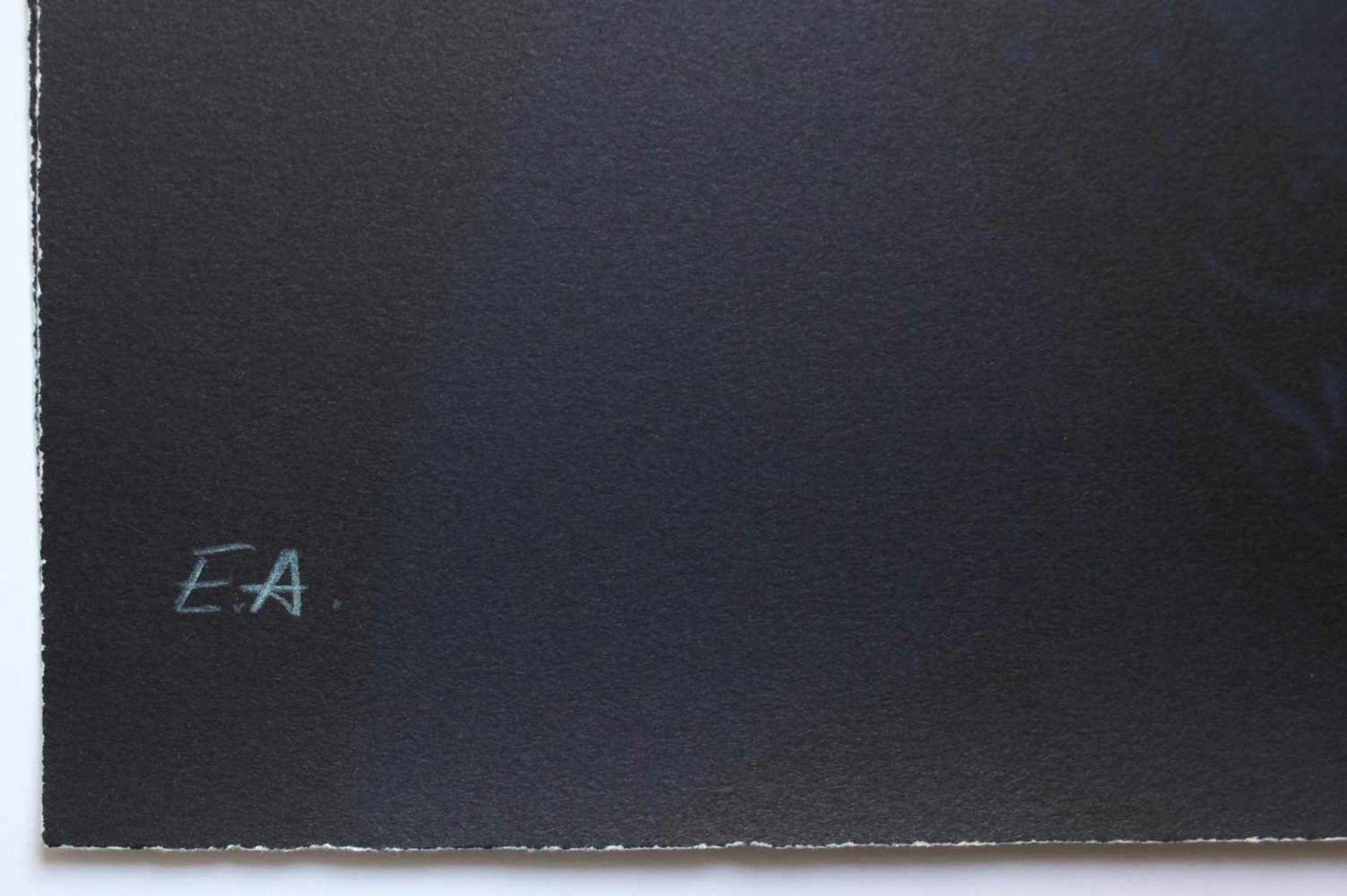 Gottfried Helnwein geb. 1948 Jean Tinguely dunkel Farblithographie handsigniert, nummeriert E.A. - Bild 3 aus 3