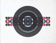 Hermann J. Painitz geb. 1938 Zahl und Zentrum 1968 Farbserigraphie handsigniert, betitelt, datiert
