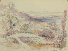 Heribert Potuznik 1910-1984 Landschaft in Jugoslavien 1967 Mischtechnik auf Papier signiert,