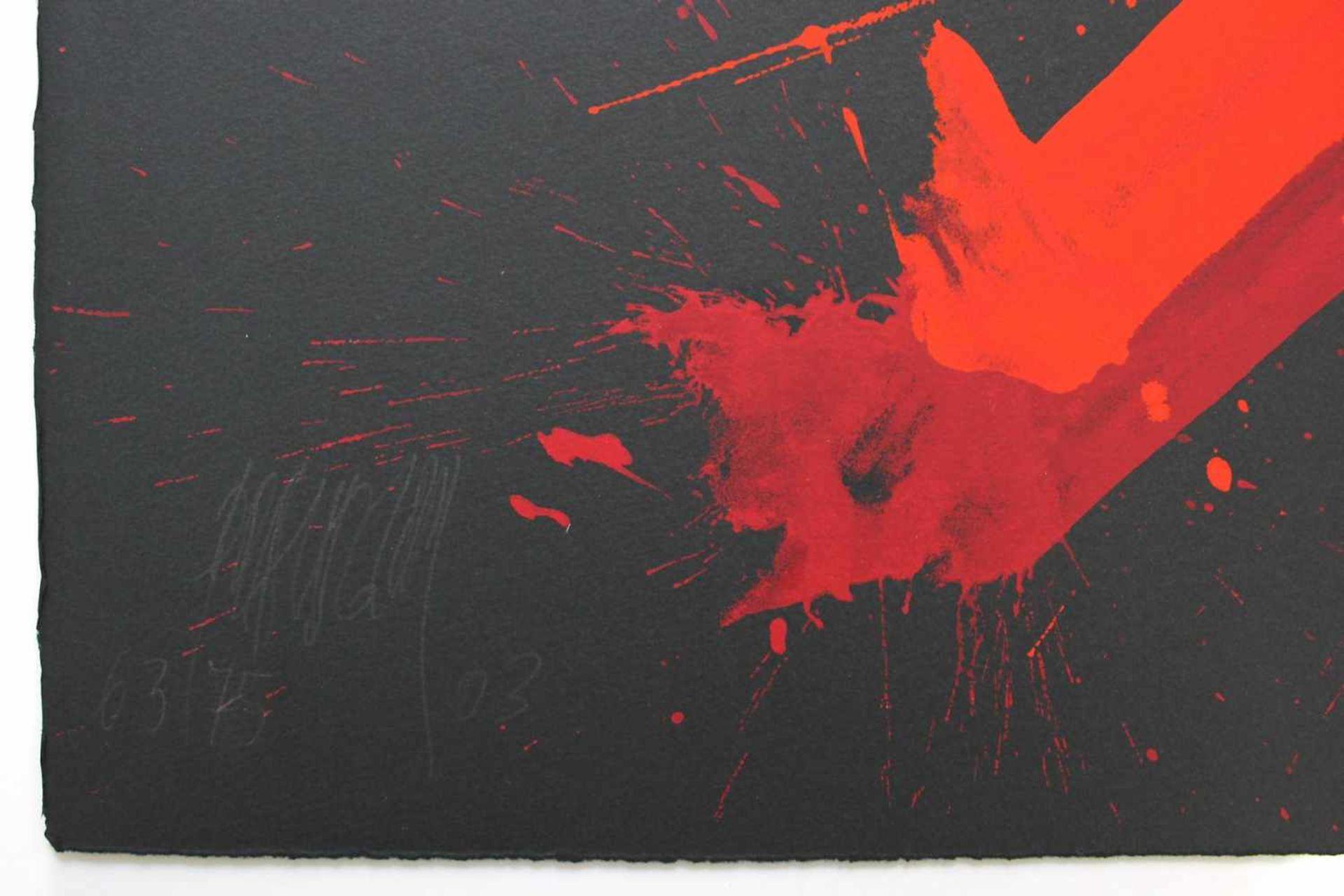 Markus Prachensky 1932-2011 Cinque Terre 2003 Farbserigraphie auf schwarzen Bütten handsigniert, - Bild 2 aus 2