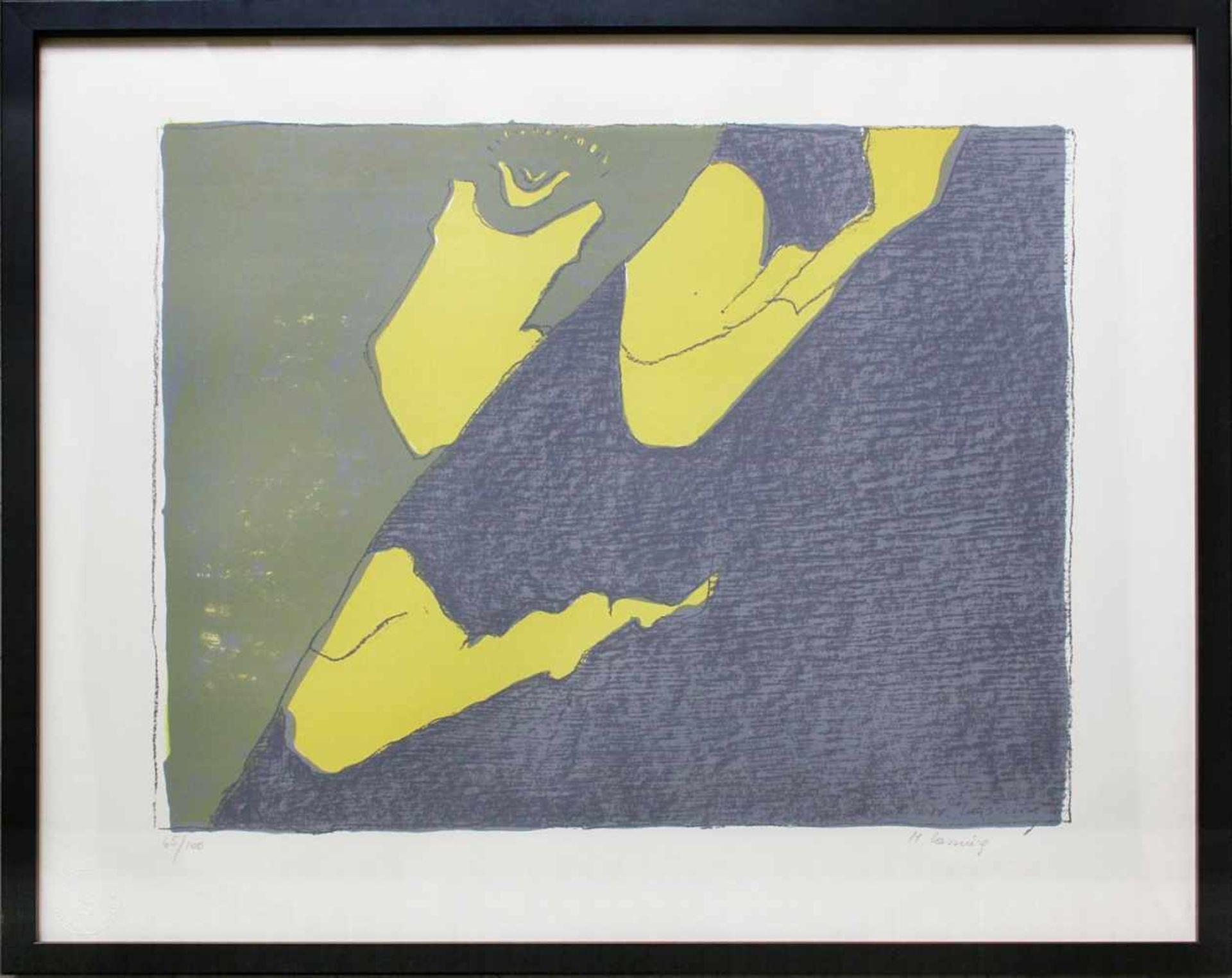 Maria Lassnig 1919-2014 o.T. 1980 Farblithographie handsigniert und nummeriert 65/100 50 x 60 cm - Bild 2 aus 4