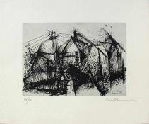 Hans Bischoffshausen 1927 - 1987 o.T. 1951 Druck signiert und nummeriert 24/100 36 x 43 cm