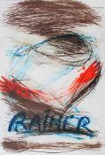 Arnulf Rainer geb. 1929 o.T. 1986 Farblithographie signiert und nummeriert 39/99 92 x 62 cm
