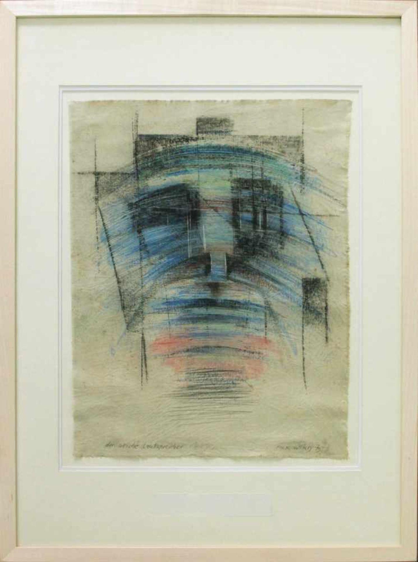 Marc Adrian 1930-2008 Der weiche Lautsprecher 1973 Öl auf Leinwand handsigniert, betitelt und - Bild 2 aus 4